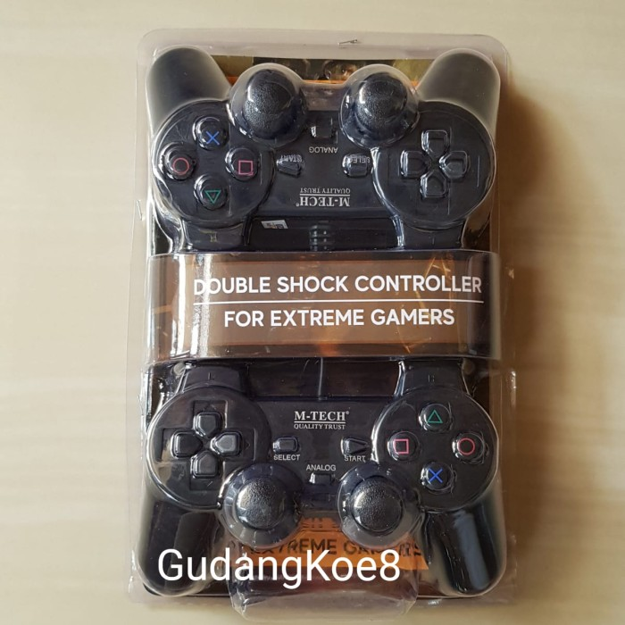 Foto Produk Joy Stick Gamepad Stik PC Komputer Laptop Double (dua) Hitam M-TECH dari GudangKoe8