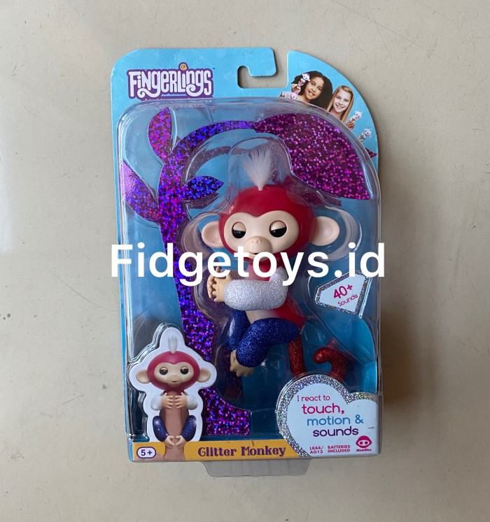 Foto Produk Wowwee Fingerlings Glitter Monkey Interactive Collectible Animals dari Fidgetoys.id