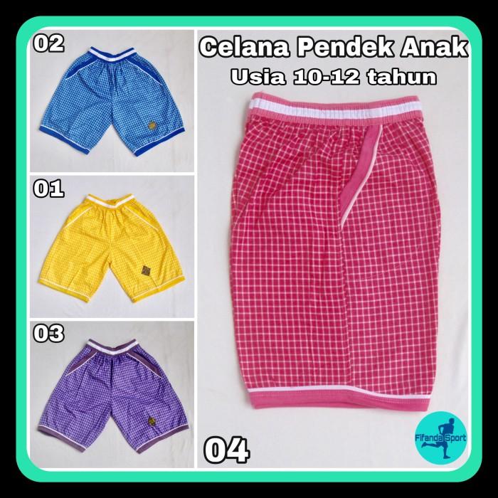 Foto Produk Celana Pendek / Kolor Anak Usia 9-12 tahun Motif Kotak-Kotak dari Fifanda Sport