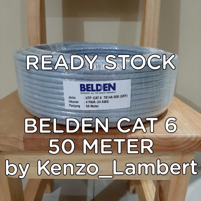 Foto Produk Kabel LAN UTP cat 6 BELDEN USA 50 meter /belden cat6 50meter/belden dari kenzo_lambert