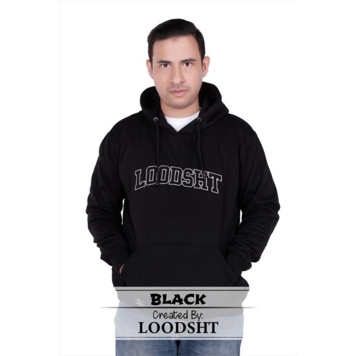 Foto Produk HOODIE / SWEATER ORIGINAL LOODSHT (KODE SHT1) BLACK - Hitam, M dari LOODSHT