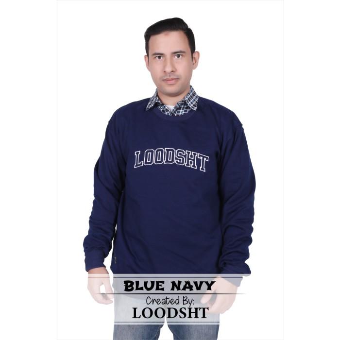 Foto Produk HOODIE OBLONG ORIGINAL LOODSHT (KODE HDO1) BIRU NAVY - Biru Navy, M dari LOODSHT