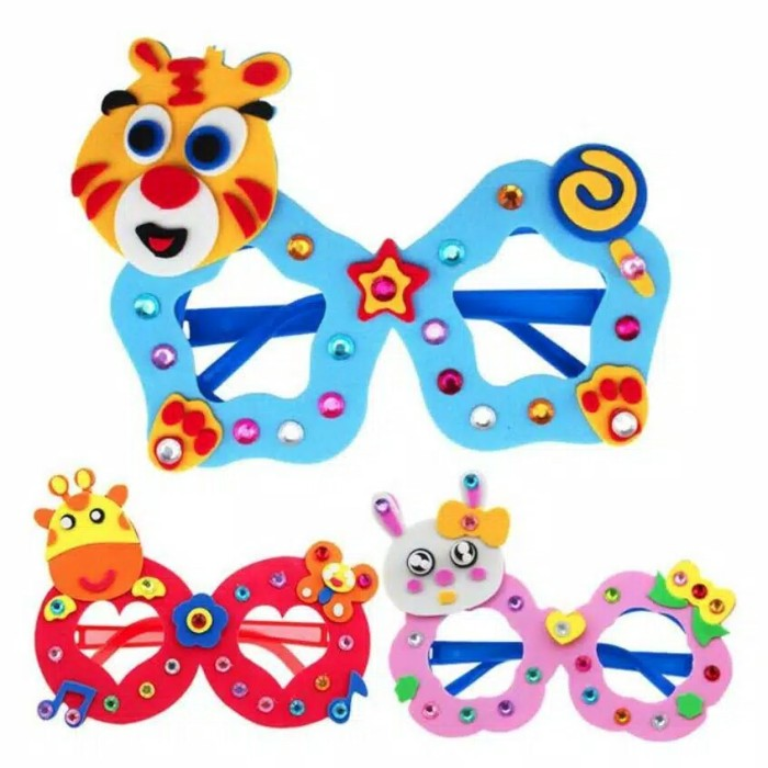 Jual Mainan Anak Kerajinan Tangan Eva Diy Glasses Kacamata Lucu Jakarta Timur Cyndri Shop Tokopedia