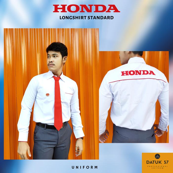 Foto Produk Seragam Kemeja Resmi Honda Lengan Panjang (Pria) - Putih, M dari Datuk Collection