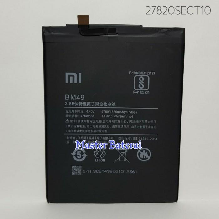 Foto Produk Baterai Xiaomi / Xiomi Mi Max / Mimax / Code Batrai : BM49 / BM 49 ORI dari Master Baterai