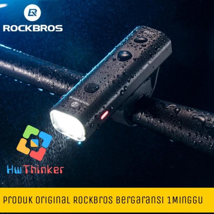 Foto Produk Original RockBros Lampu Sepeda Depan LED YQ-QD400 Recharge 400 Lumen dari hwthinker