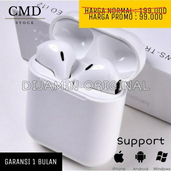 Foto Produk Airpods TWS i12 Ori Headset Wireless Earphone Bluetooth Original dari CMD Stock