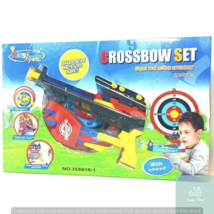 Foto Produk Mainan Anak Crossbow Memanah Panah Set Panah Panahan Tembakan dari Lumi Toys