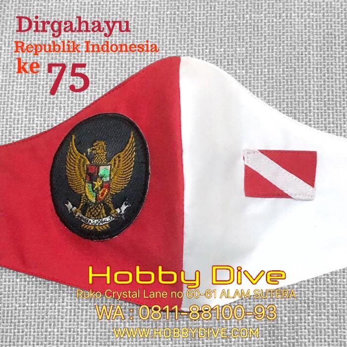 Jual Bendera Merah Putih Masker Kain Garuda Indonesia Dive
