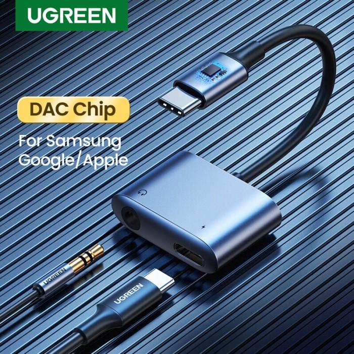 Foto Produk Ugreen 2in1 Usb C to 3.5mm Audio Charging for Samsung/ Ipad pro 60164 dari Ugreen ID