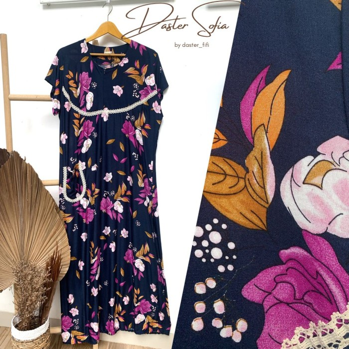 Foto Produk Daster Sofia by Daster Fifi - Navy, all size dari Mabel's shop