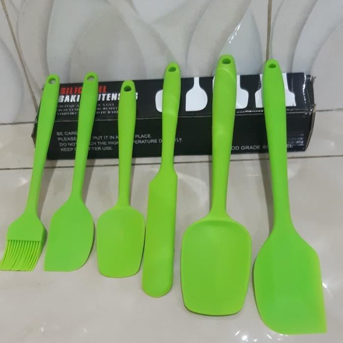 Foto Produk Silica Gel Baking Utensils Kitchen set 6pcs Serbaguna dari SerbAda_Shop