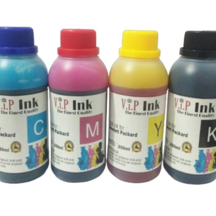 Foto Produk Paket Tinta Hp isi Ulang 250ml / Tinta Refill Printer 250ml Vip Ink dari Mitraink