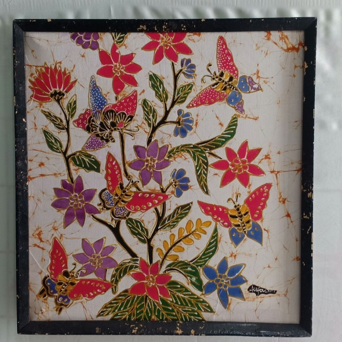 Jual Lukisan Batik Kupu 40x40