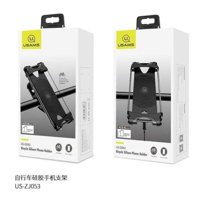 Foto Produk usams bicycle silicone silikon karet phone hp xiaomi holder sepeda dari Vilox
