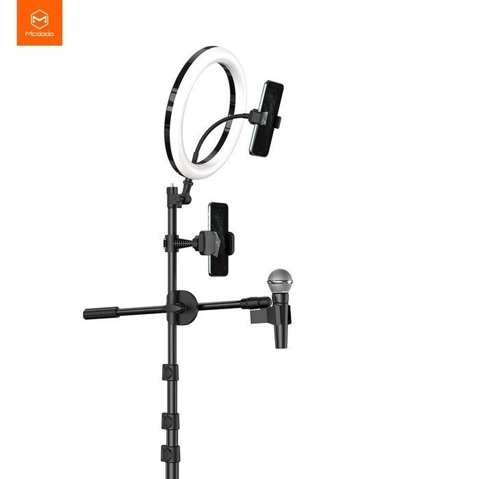 Foto Produk mcdodo tripod broadcast live streaming RING LIGHT stand phone 10inch dari Vilox