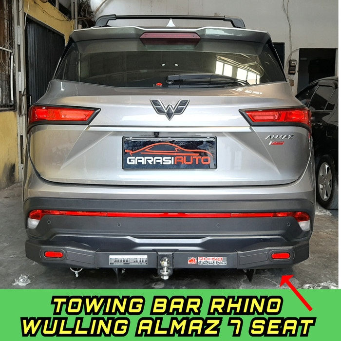 Foto Produk Tanduk Belakang Wulling Almaz 7seat Bumper Guard Towing Bar Rhino Besi dari GarasiAuto