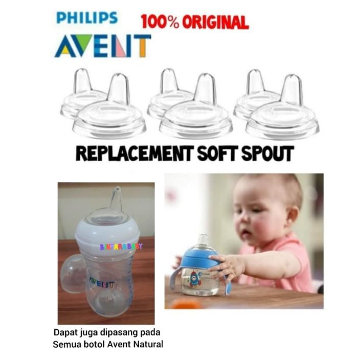 Foto Produk Philips Avent Soft Silicone Natural Spout Original 6m+ 9m Avent teat dari Bintara Baby