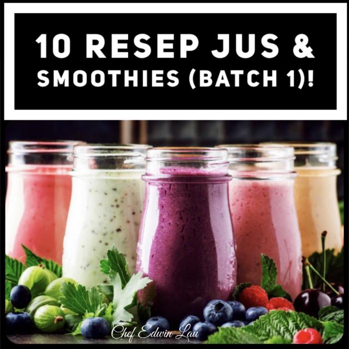 Jual 10 Resep Jus Smoothies Batch 1 Kota Tangerang On Diet Tokopedia