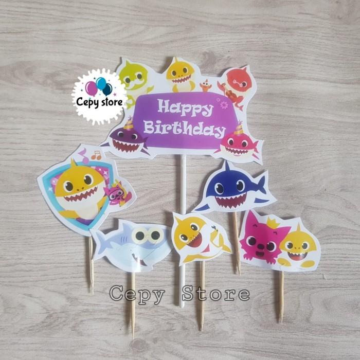 Jual Cake Topper Happy Birthday Cake Topper Baby Shark Hiasan Kue Jakarta Pusat Cepy Store Tokopedia