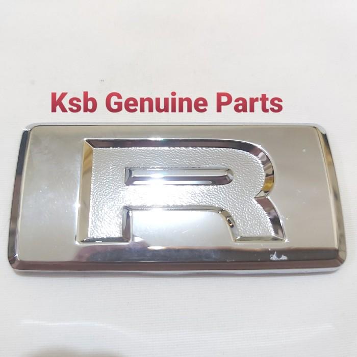 Foto Produk Emblem Logo Tulisan R Pintu Bagasi Belakang Sigra Xenia Terios Ayla dari KSB Genuine Parts