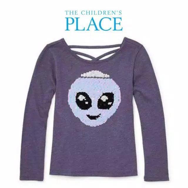 Foto Produk Baju anak kaos flipsequin branded Children's Place purple alien 10-12T - 10-12 T dari Galeri Ona