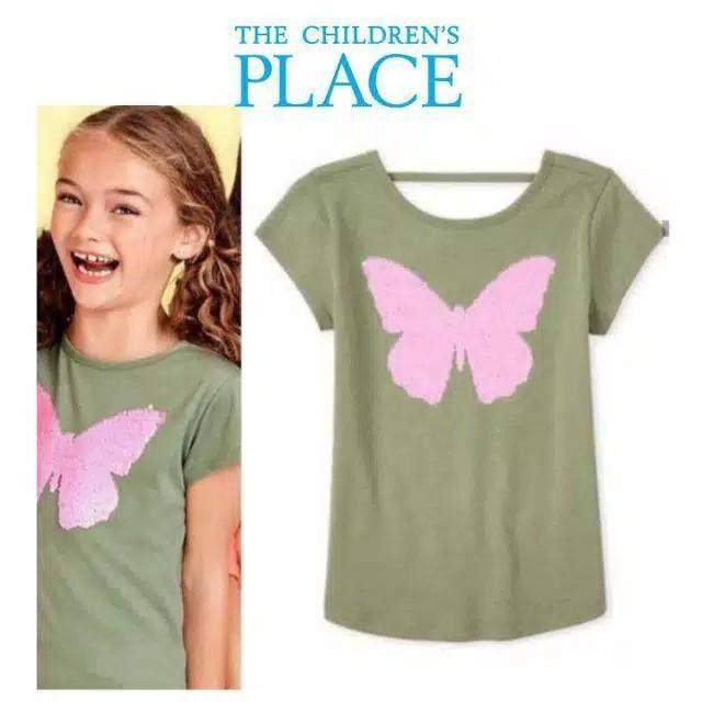 Foto Produk Baju anak kaos flip sequin branded Children's Place butterfly 10-12 T - 10-12 T dari Galeri Ona