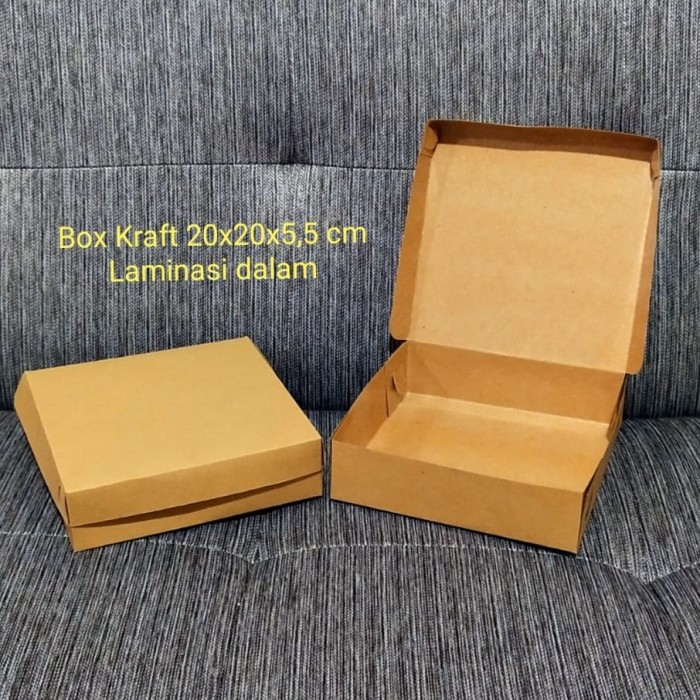 Jual Kotak dus box kue brownies food grade paper laminasi ...