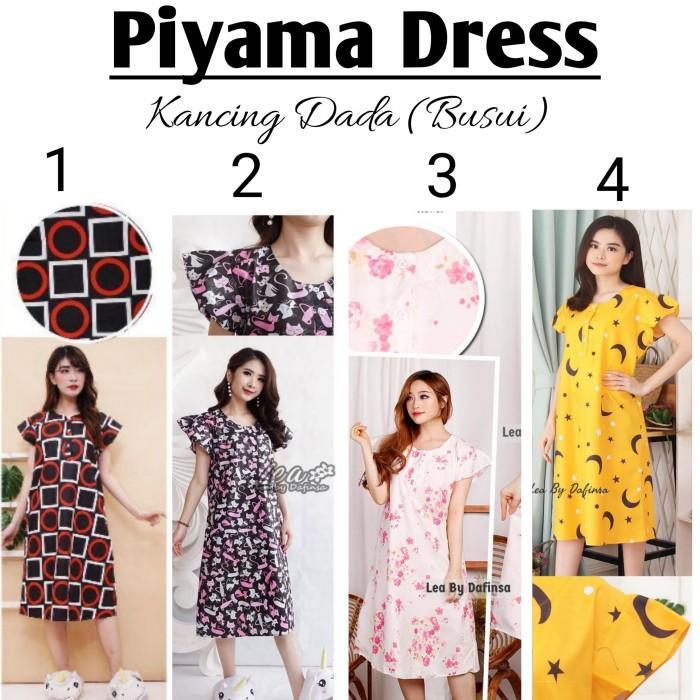 Foto Produk Piyama dress pendek wanita / Daster Busui / Baju Tidur dari Bajukuuh