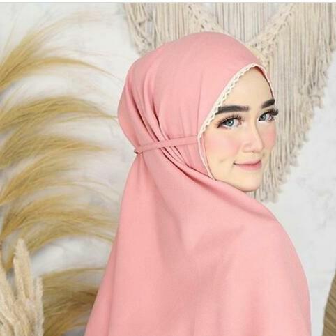 Jual Bergo Renda Maryam Diamond Khimar Renda Hitam Kab Bandung Lucky Hijab Shop Tokopedia