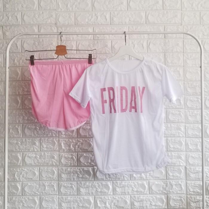 Foto Produk Kaos Friday/ baju rumah - Merah Muda dari DeChoixBeauty