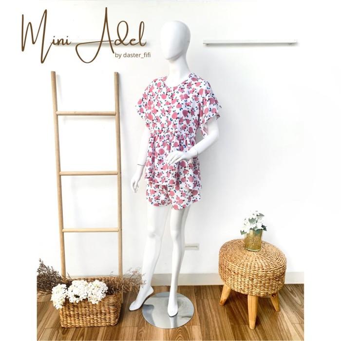 Foto Produk Setelan Mini Adel by Daster Fifi - all size, Merah Muda dari Mabel's shop
