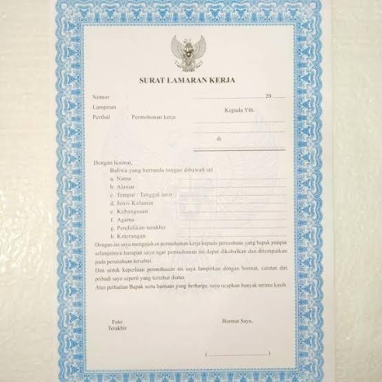 59 Contoh Surat Lamaran Kerja Tulis Tangan Di Kertas Folio Bergaris