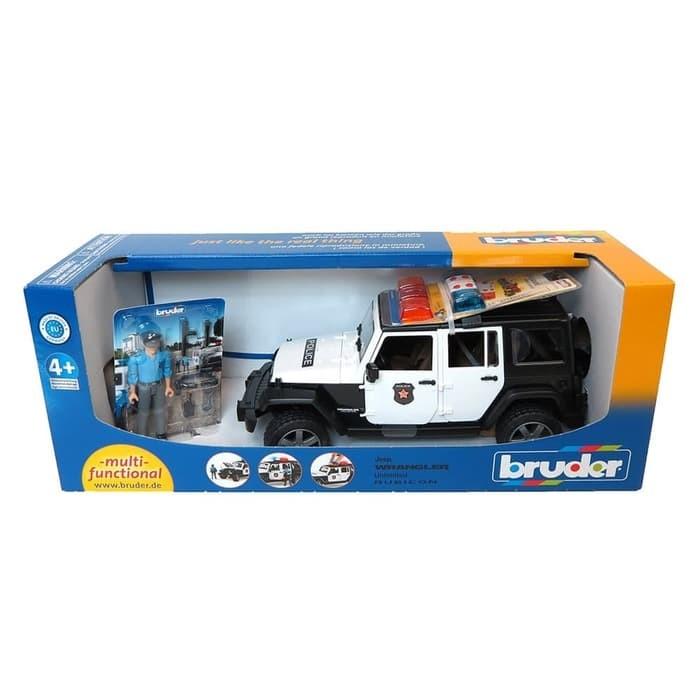 Promo Bruder Toys 2526 Jeep Wrangler Unlimited Rubicon Police With Policeman Jakarta Selatan Toys City Smart Price Tokopedia