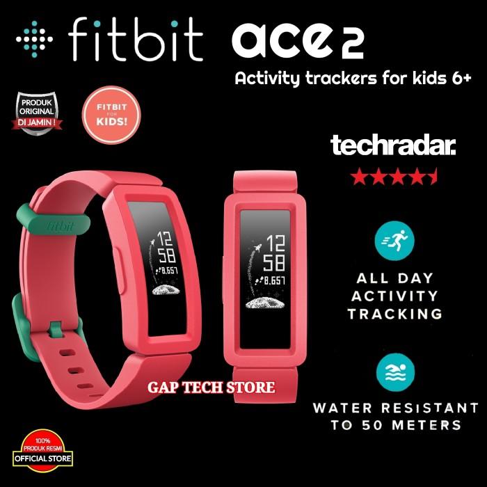 Foto Produk FITBIT ACE 2 / ACE2 Activity Trackers For Kids SmartWatch Original - Merah dari GAP TECH STORE