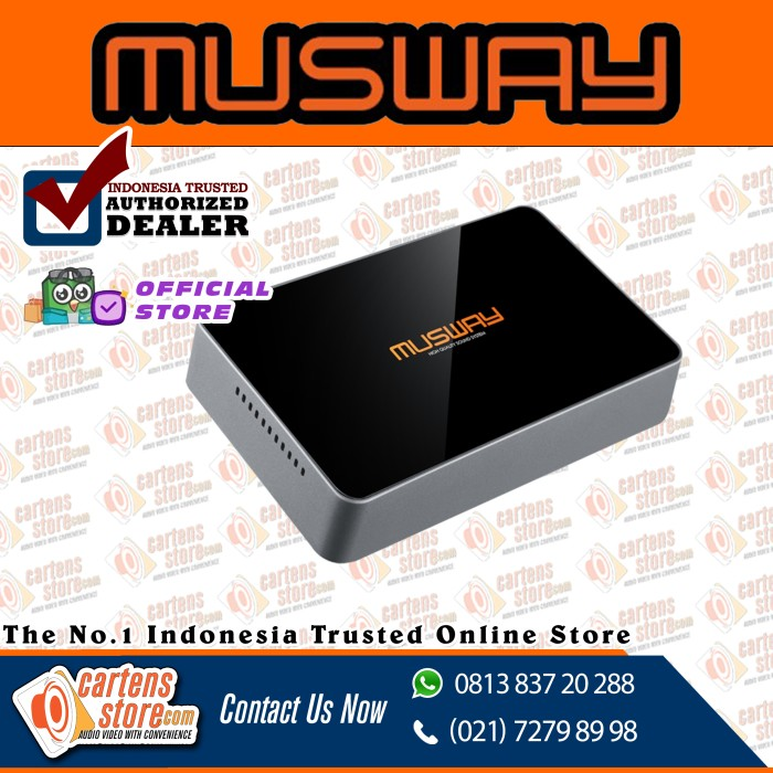 Foto Produk MUSWAY DSP DIS 4CH CLASS B AMPLIFIER WITH 6CH by Cartens Audio dari Cartens Store