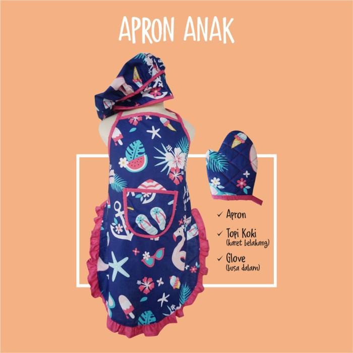 Foto Produk Apron Celemek Anak | Apron Anak 1 set | Kostum Profesi Anak - Motif C dari B_BabyStore