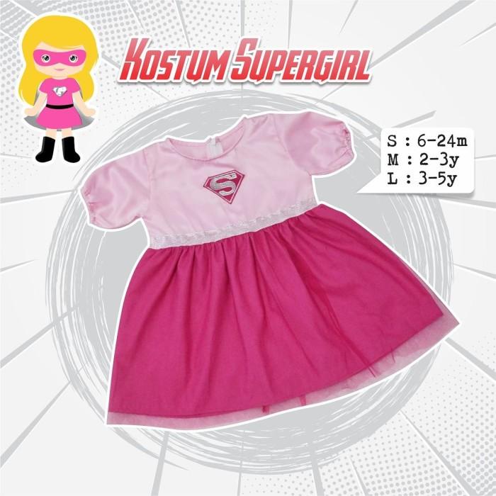 Foto Produk Kostum Supergirl Anak | Dress Kostum | Kostum Karakter Anak - pink, S dari B_BabyStore