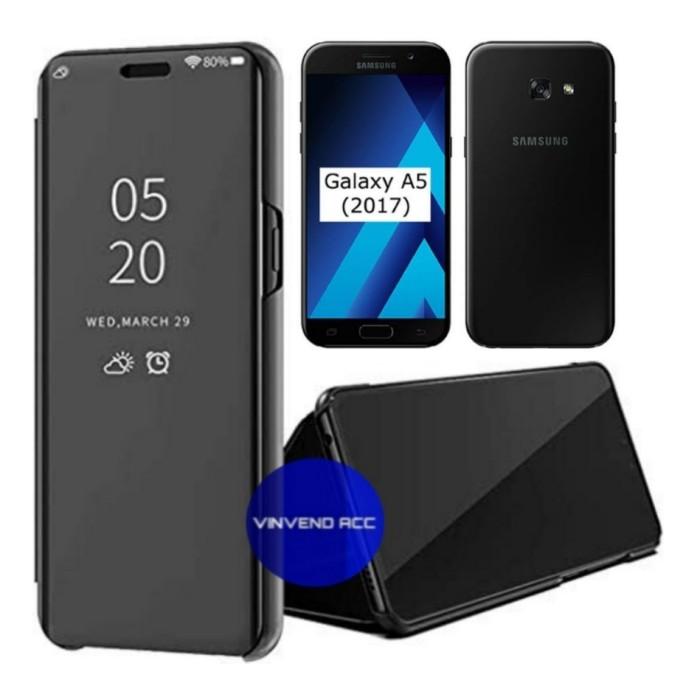 Foto Produk Mirror Cover Flip Case For Samsung Galaxy A5 A520 A5 2017 Clear Cover dari Vinvend ACC