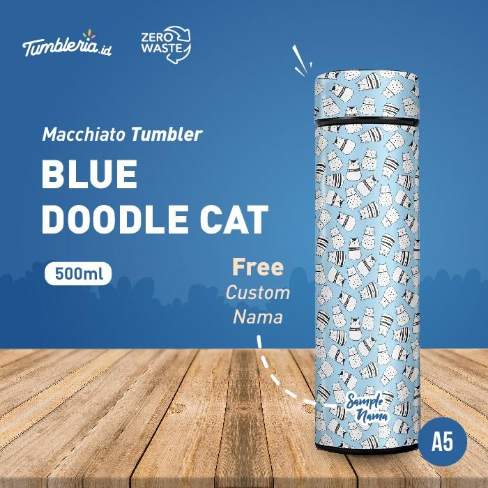 Foto Produk Macchiato Tumbler I Blue Doodle Cats dari Bogorprint Express