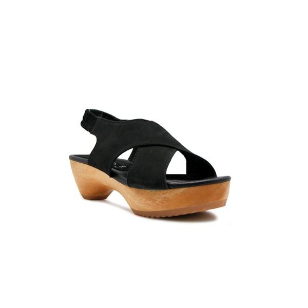 Foto Produk CLOGS Edelweiss - Black Nb 4cm dari Natana Shoes