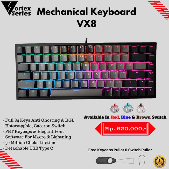 Foto Produk VortexSeries VX8 Mechanical Keyboard - Gateron Red dari VortexSeries