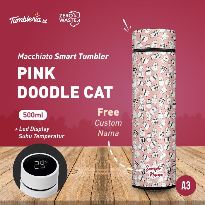 Foto Produk Macchiato Smart Tumbler I Pink Doodle Cats dari Bogorprint Express