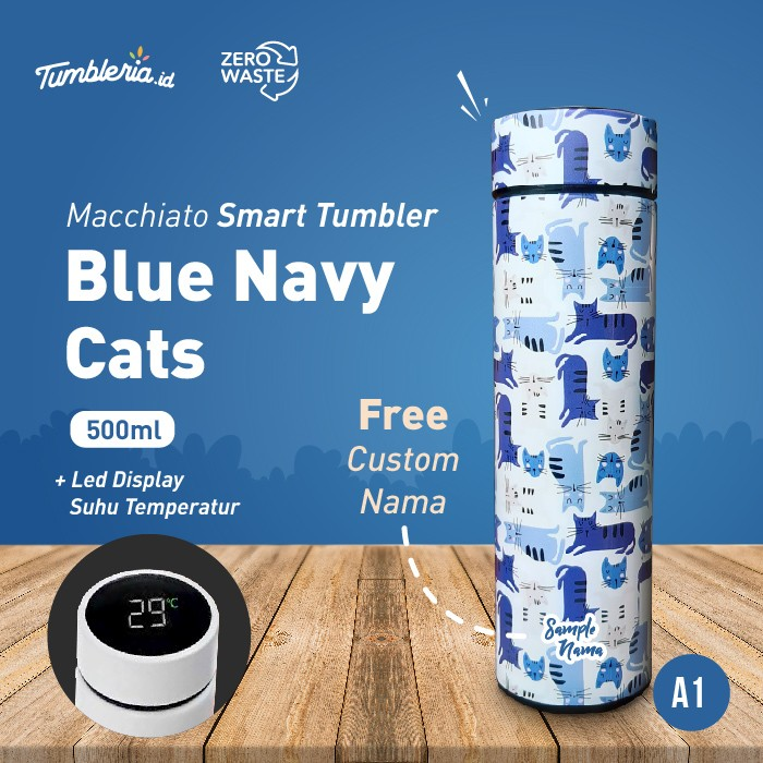 Foto Produk Macchiato Smart Tumbler I Blue Navy Cats dari Bogorprint Express