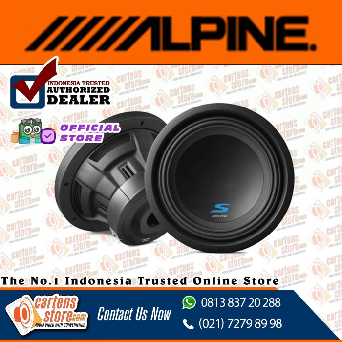 "Foto Produk Alpine Subwoofer 10"" SW10D2 by Cartens Audio dari Cartens Store"