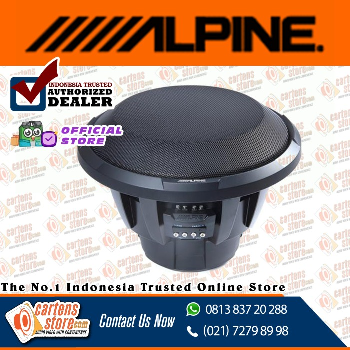"Foto Produk Alpine Subwoofer 12"" X-W12D4 by Cartens Audio dari Cartens Store"