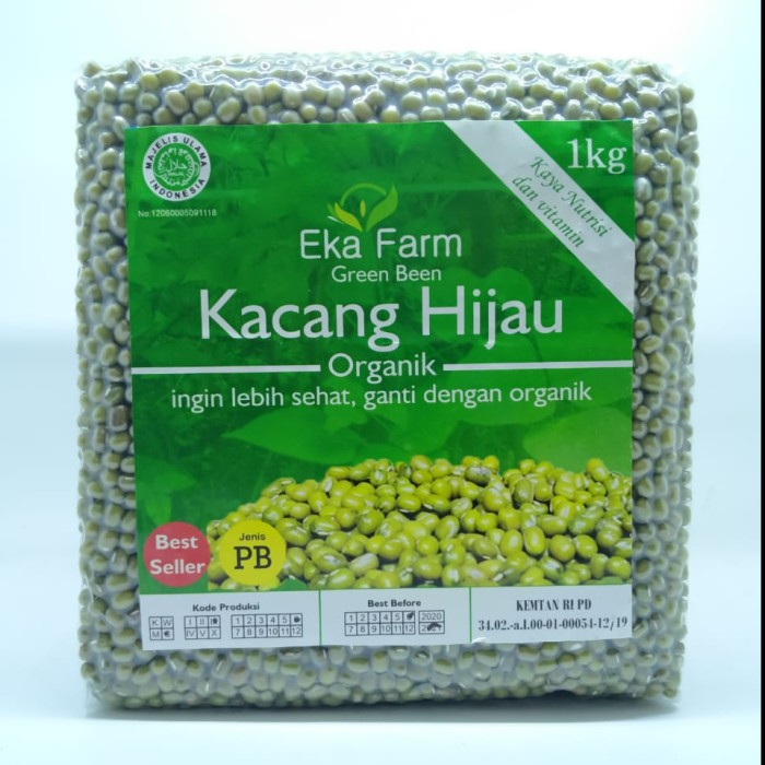 Foto Produk Kacang Hijau Organik Eka Farm 1kg dari Kantin Organik