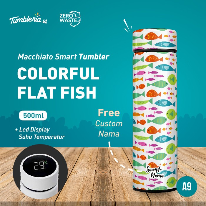 Foto Produk Macchiato Smart Tumbler I Colorful Flat Fish dari Bogorprint Express