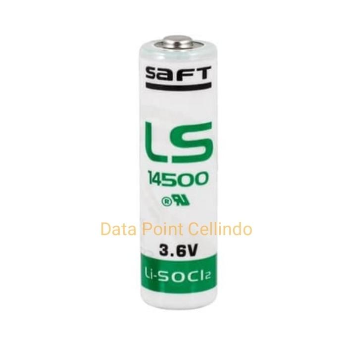 Foto Produk Baterai SAFT Lithium LS14500 3.6v Battery PLC LS 14500 AA 3.6 v PC71 dari Data Point Cellindo