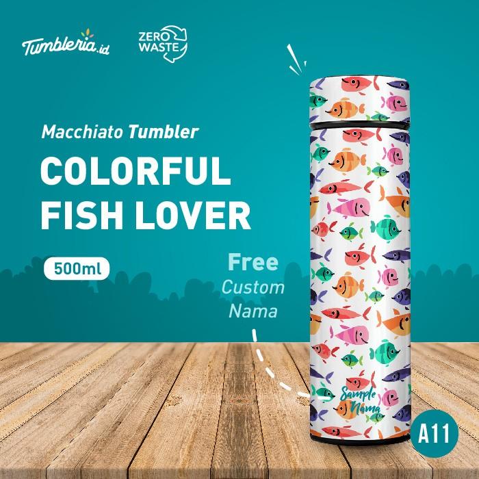 Foto Produk Macchiato Tumbler I Colorful Fish Lover dari Bogorprint Express